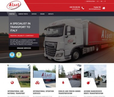 Alset | A specialist in transport to Italy