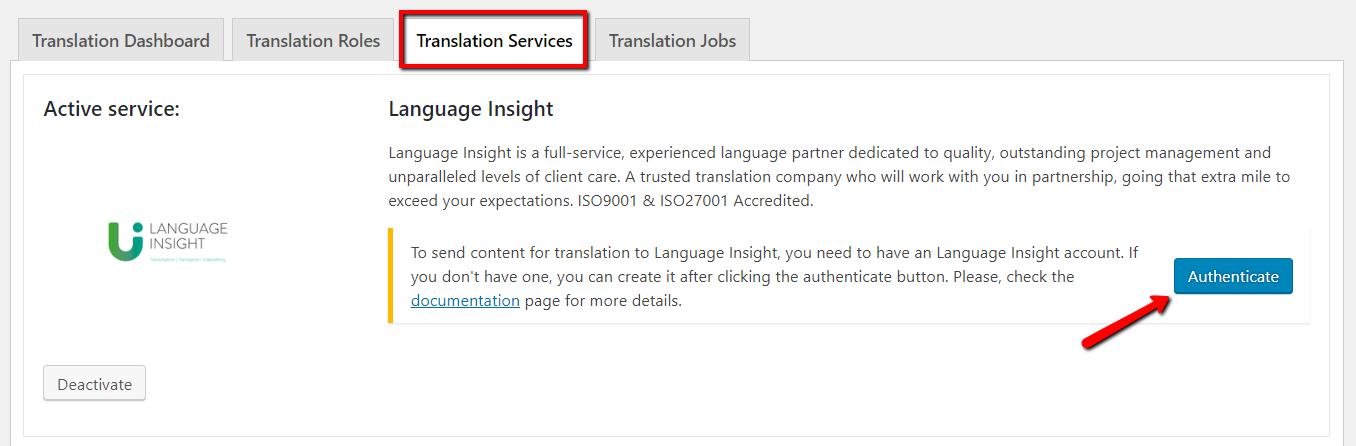 Authenticating Language Insight