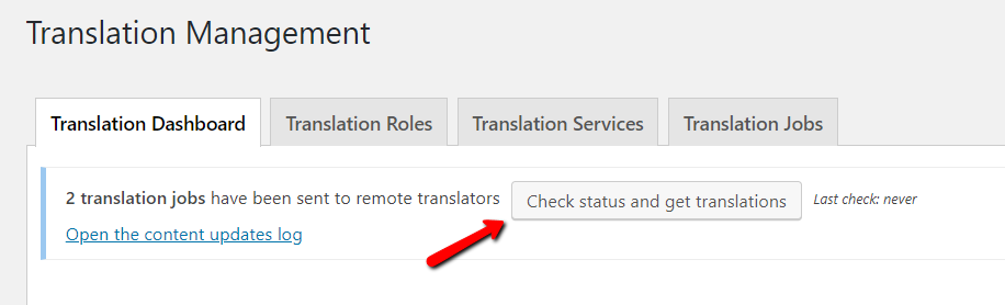 Manually getting the translations done with Advanced Translation Editor