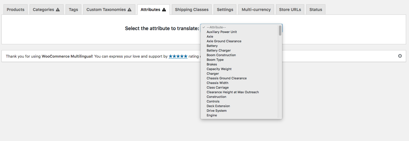 How to export product/post categories and attribute slug