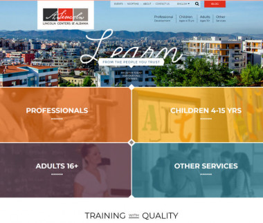Lincoln Centers of Albania website