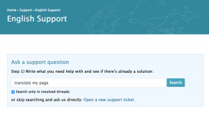 Opening a support ticket