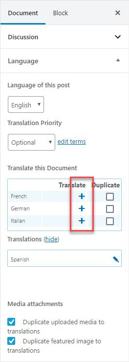 Aggiungete la traduzione