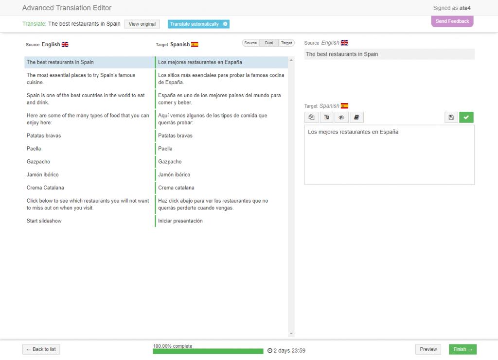 WPML's Advanced Translation Editor