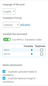 Adding translations when using Block editor