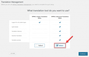 Activation using the Translation Management wizard