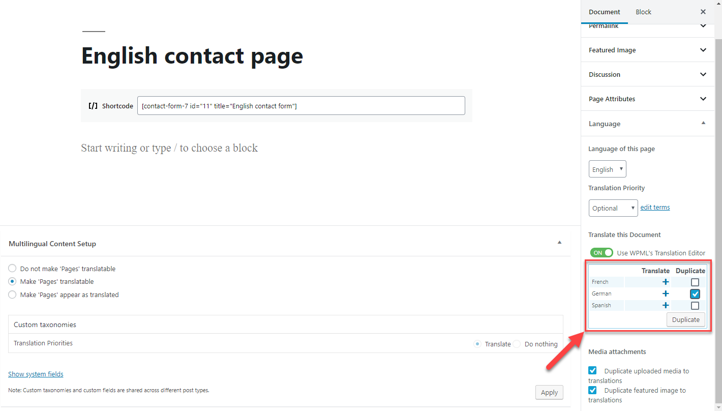 Using Contact Form 7 With Wpml Wpml