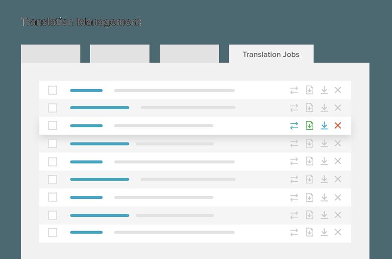 Translation Jobs tab