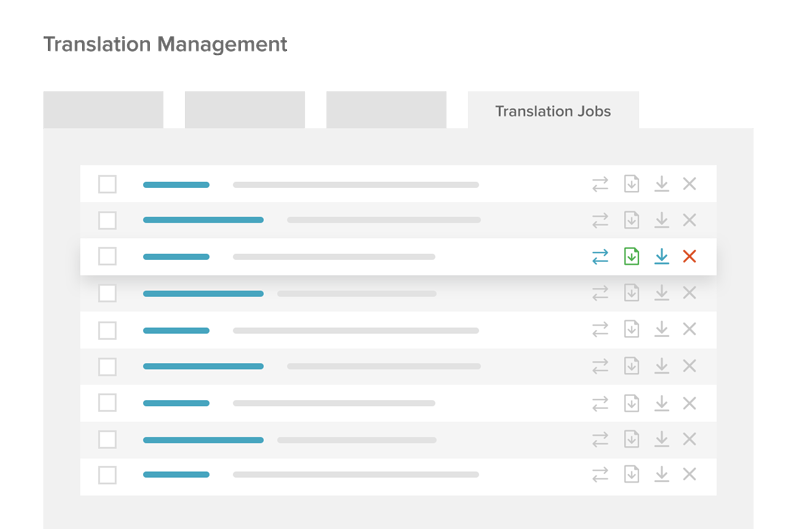 Translation Jobs tab