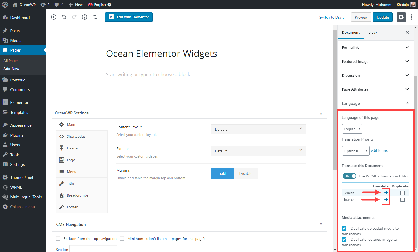 OceanWP Extensions Compatibility with WPML - WPML