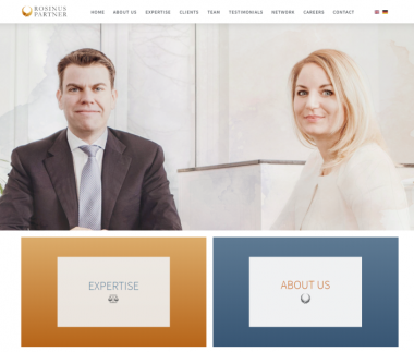 Rosinus Partner / Lawyer website