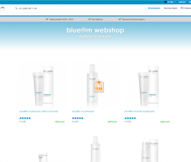 Webshop bluemcare