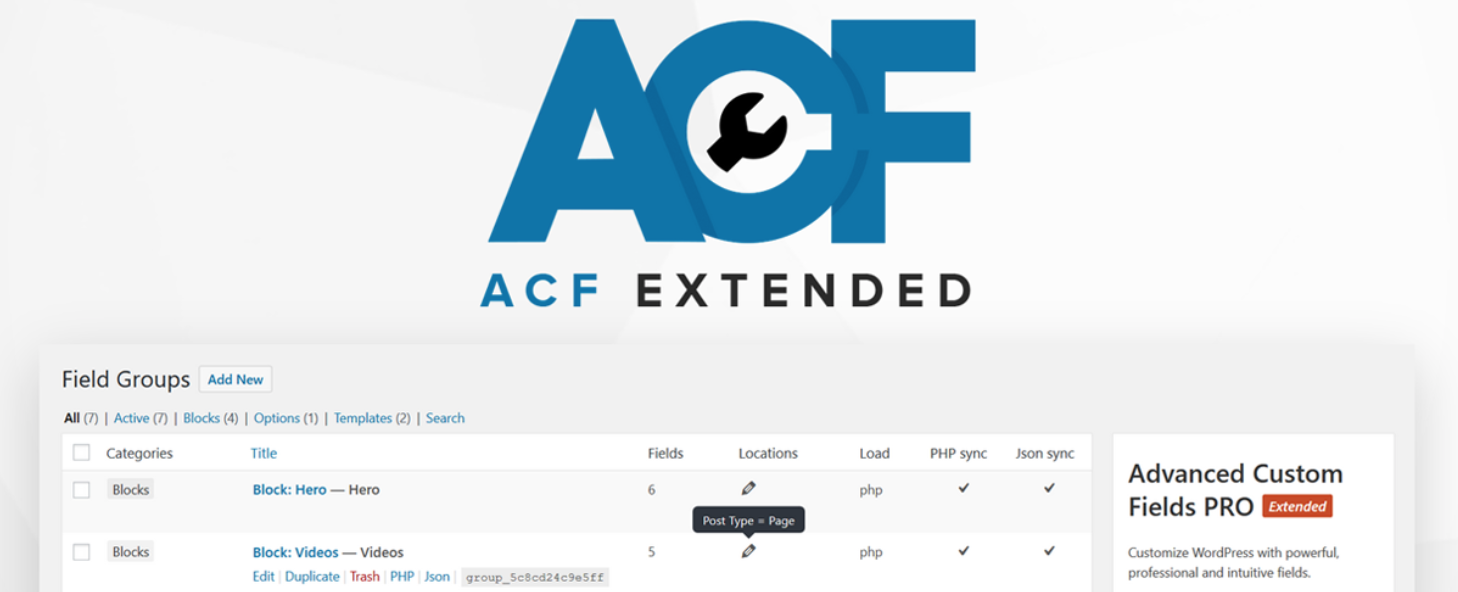 ACF Extended