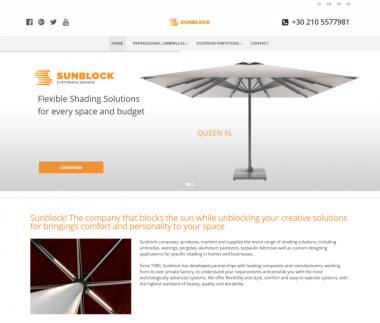 Sunblock Professional Shading Solutions (Umbrellas – Outdoor Partitions)