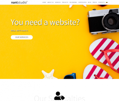 Nantstudio Company website