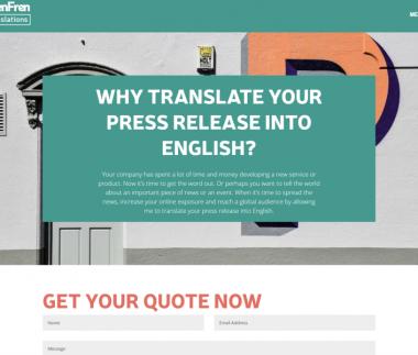 Pressmeddelanden till Engelska
