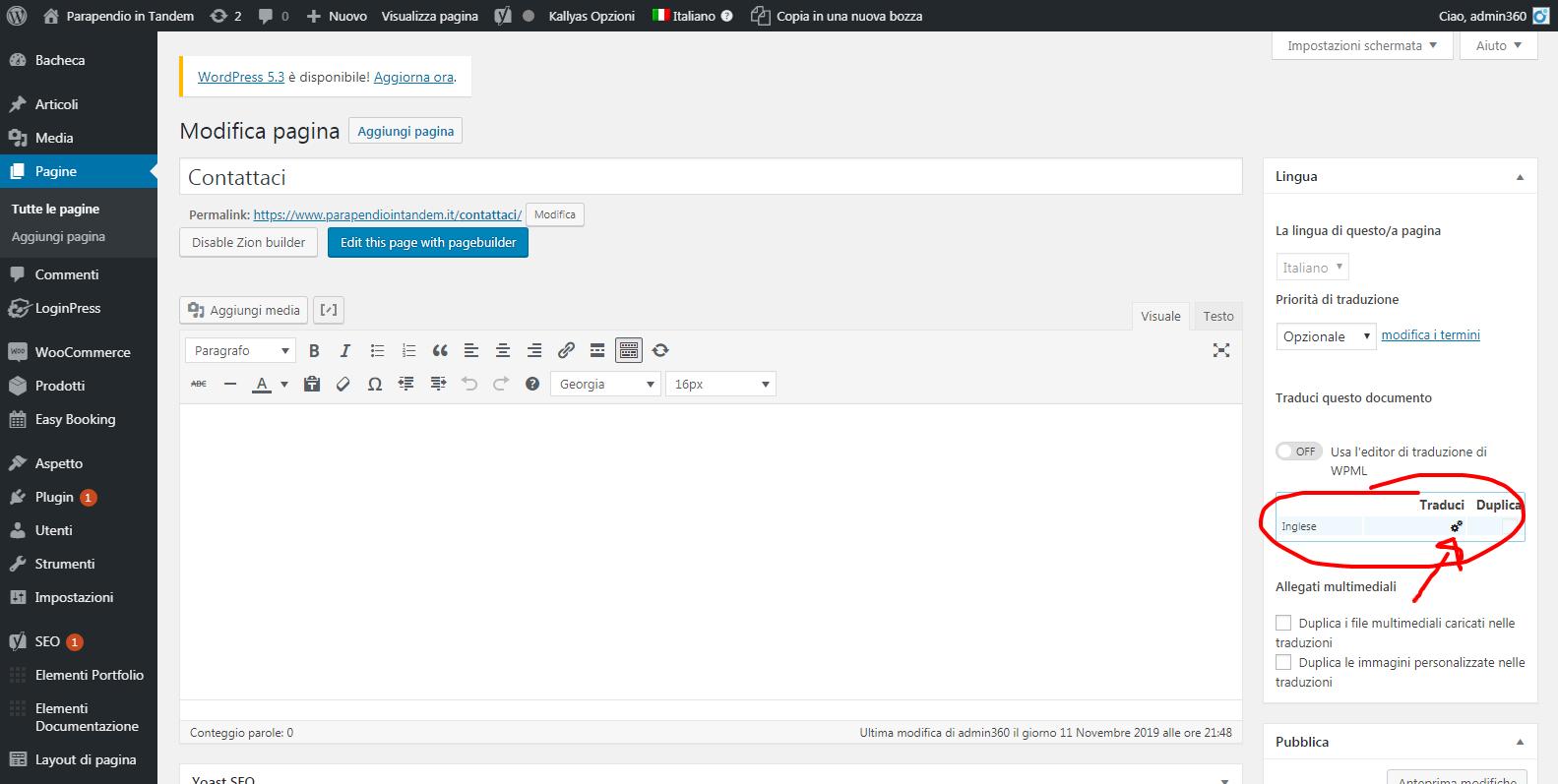 Modifica pagina ‹ Parapendio in Tandem — WordPress.png