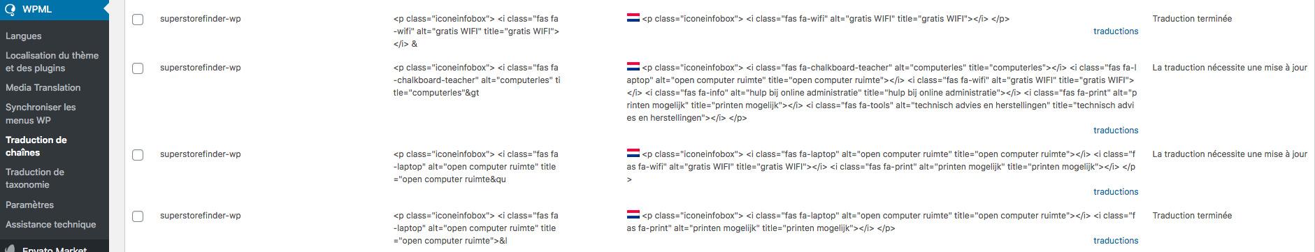 Traduction de chaînes ‹ De Schakel — WordPress.jpg