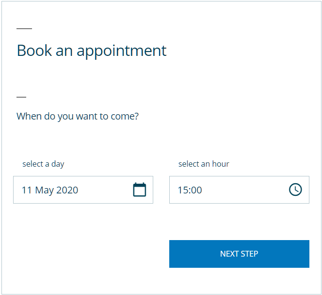 Default language booking form