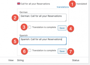 Multiple clicks to translate strings