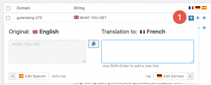 Translate your strings with only one click