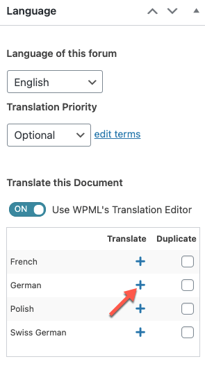 Click the plus icon to translate the forum text yourself