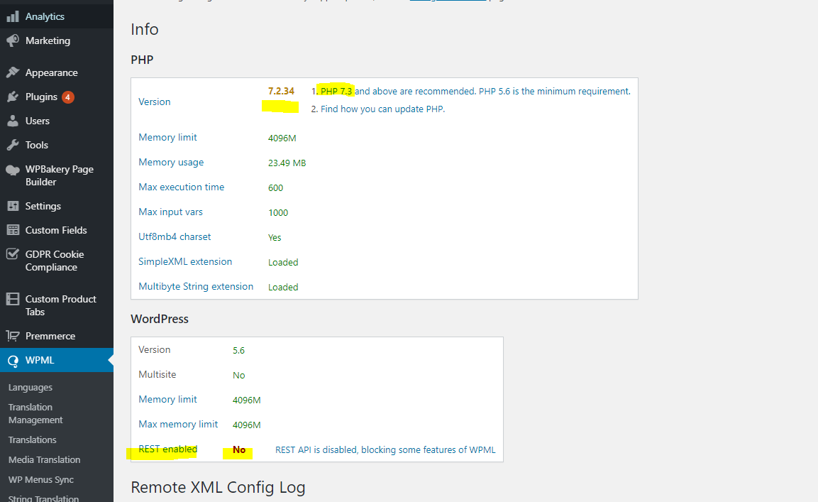 Critical Uncaught Error Call To A Member Function Get Cart On Null Wpml