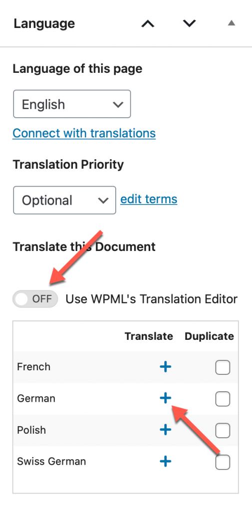 Translating the slider page manually