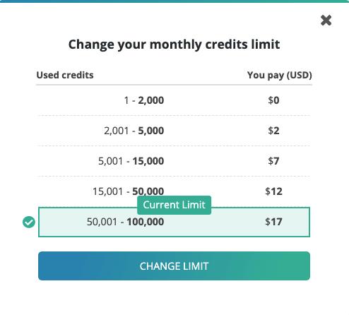 שינוי מגבלת התשלום