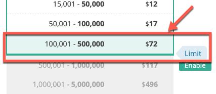 מגבלת התשלום גדלה