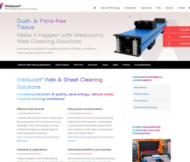 Weducon Web Cleaning Technology