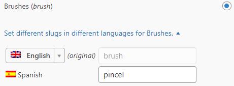 Translating the custom post type slug