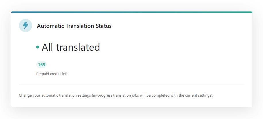 Anzeige des Status Ihrer automatischen Übersetzungen
