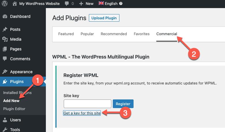 Generar una clave de sitio de manera automática para su sitio