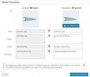 Translating product image texts